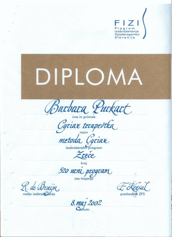 diploma specializacije ortopedske medicine