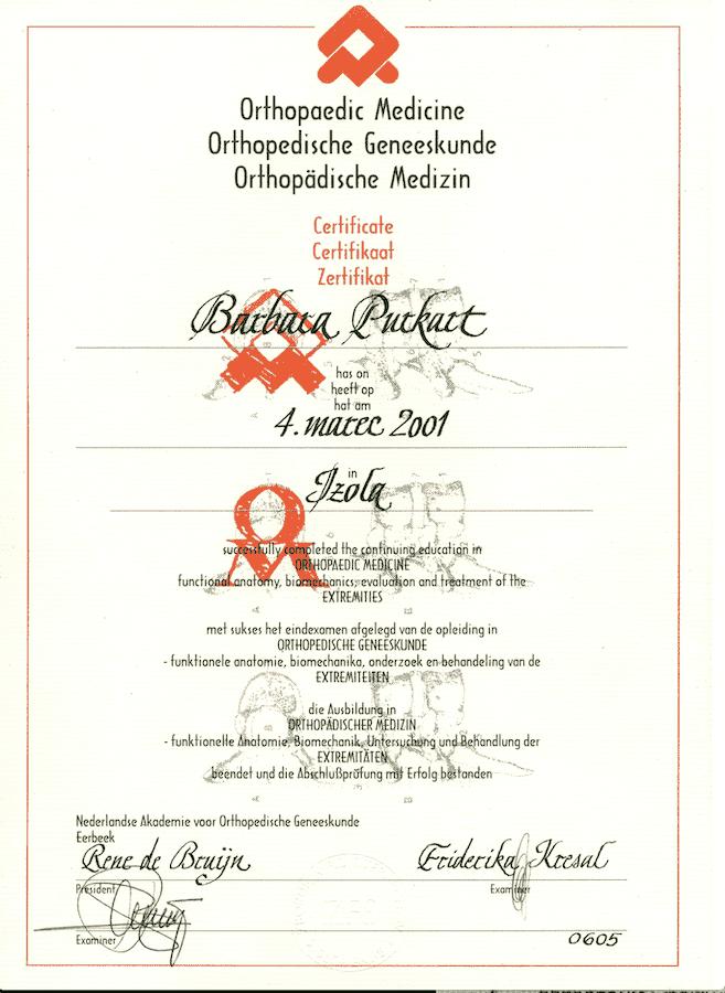 diploma ortoped in fizioterapija na enem mestu v ljubljani